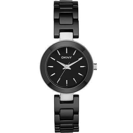 DKNY Stanhope 陶瓷佳人時尚腕錶-黑/28mm NY2355