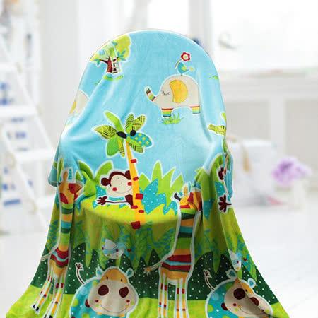 【情定巴黎】 熱銷大省方案 動物樂園 保暖聖品玫瑰絨毯包邊超值款(150cm x200cm)