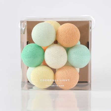【韓國 Cotton to Kids】Mini Cocoball LED氣氛棉球燈串 + 調光器 (mint flavor)