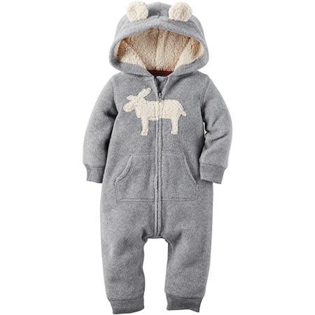 美國 Carter / Carter's 嬰幼兒秋冬連身裝_灰色麋鹿_CTJB-012