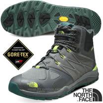 【美國 The North Face】ULTRA FASTPACK II 男款Gore-Tex防水透氣中筒輕量登山鞋.登山鞋.越野鞋.健行鞋_ CDL8 幻影灰/石灰綠