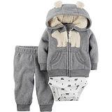 美國 Carter / Carter's 嬰幼兒秋冬暖外套包屁衣長褲三件組_北極熊_CTBC038