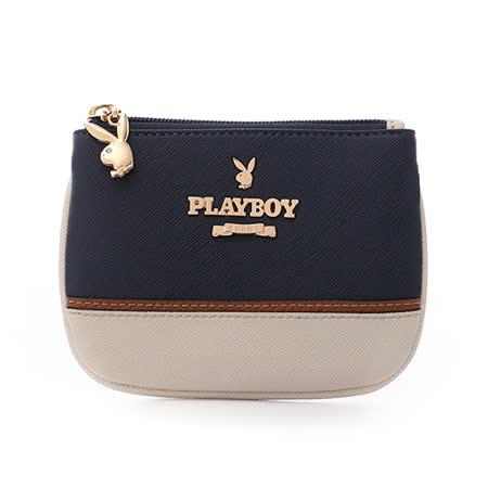 PLAYBOY- Navy bunny 遠洋夢想兔系列 鑰匙零錢包-海洋湛藍