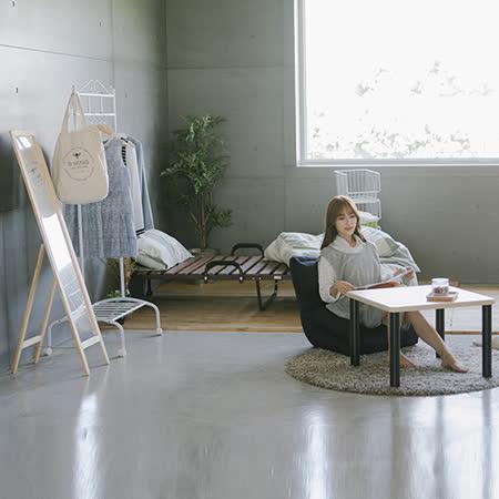 《Peachy life》摺疊床/衣架/和室桌/和室椅/收納籃/全身立鏡 元氣小資專案六件組