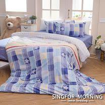 幸福晨光《悠雲幻花》雙人加大四件式雲絲絨床包被套組