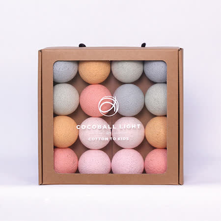 【韓國 Cotton to Kids】Cocoball LED氣氛棉球燈串 (romance) + 調光器