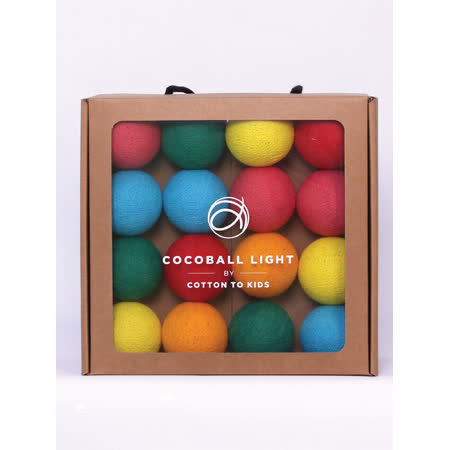 【韓國 Cotton to Kids】 Cocoball LED氣氛棉球燈串 (lollipop) + 調光器