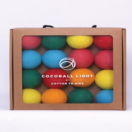 【韓國 Cotton to Kids】 Cocoball LED氣氛棉球燈串 (lollipop) + 調光器