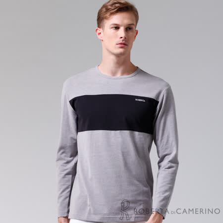 ROBERTA諾貝達 台灣製  超柔軟 禦寒保暖 長袖POLO棉衫 灰色