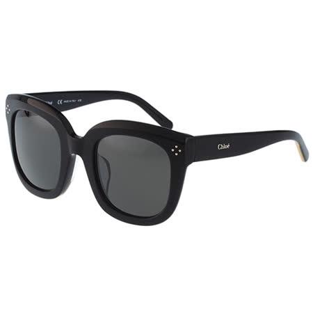 【真心勸敗】gohappy線上購物Chloe太陽眼鏡 復古感造型(黑色)CE701SK-001評價好嗎廣三 sogo 百貨