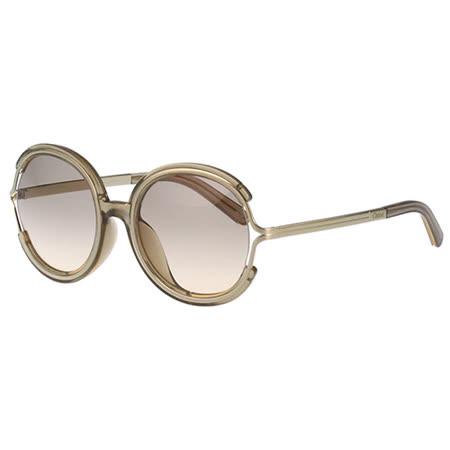【真心勸敗】gohappy快樂購Chloe太陽眼鏡 復古圓面造型(茶配金)CE711SA-272效果如何高雄 遠 百 週年 慶