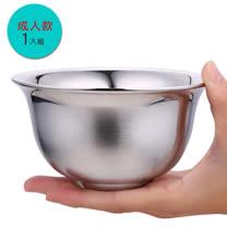 PUSH! 餐具不銹鋼碗雙層加厚防燙防摔不鏽鋼碗飯碗成人款2pcs E68