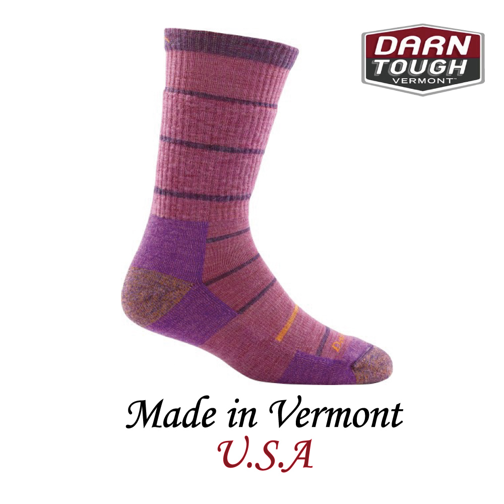 【美國DARN TOUGH】Summit Stripe Boot Sock Cushion  健行系列等長襪 薰衣草