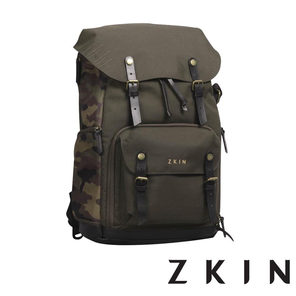 ZKIN RAW Yeti 重裝極限雙肩相機包(迷彩綠)