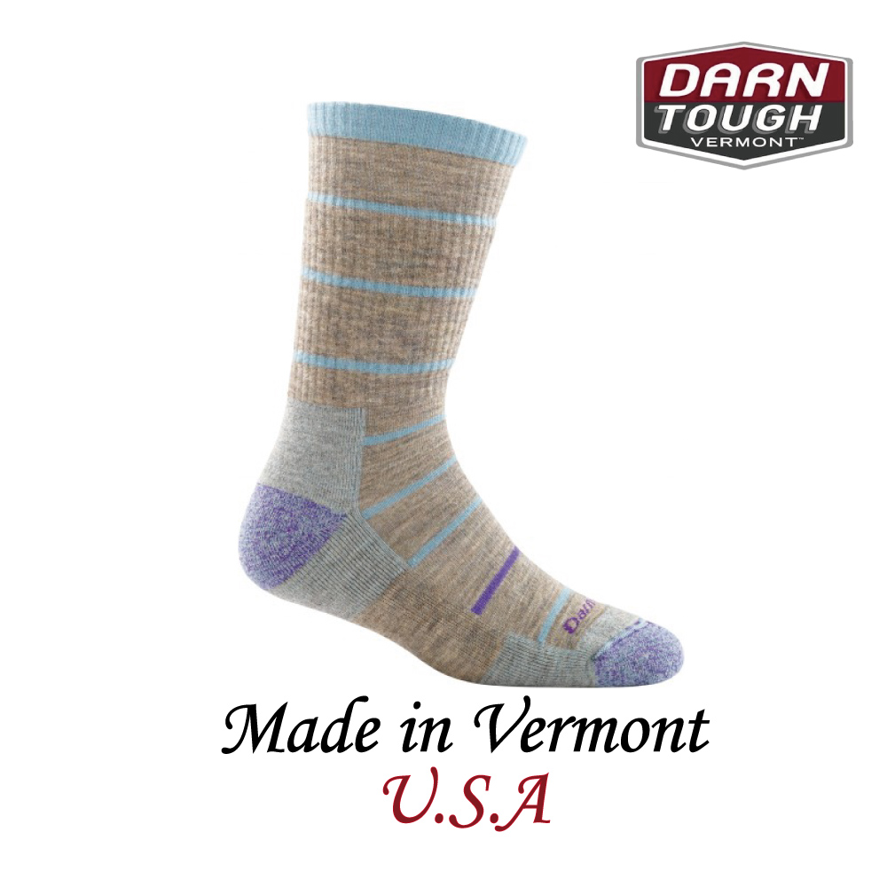 【美國DARN TOUGH】Summit Stripe Boot Sock Cushion  健行系列等長襪 淺灰紫