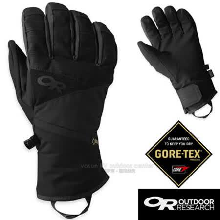 【美國 Outdoor Research】男款 Centurion Gore-tex 防水防風透氣保暖手套.滑雪手套.機車手套/EnduraLoft保暖纖維/OR243364 黑