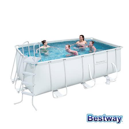 【BESTWAY】8-10人超大方型框架泳池/戲水池(56456)