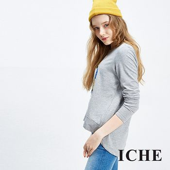 ICHE 衣哲 立體裝飾玩味造型上衣 兩色