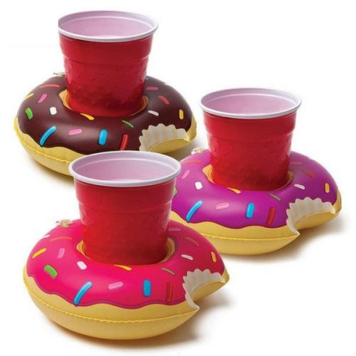 ~PS Mall~度假 甜甜圈充氣杯座 水上杯墊 2入^(J2002^)