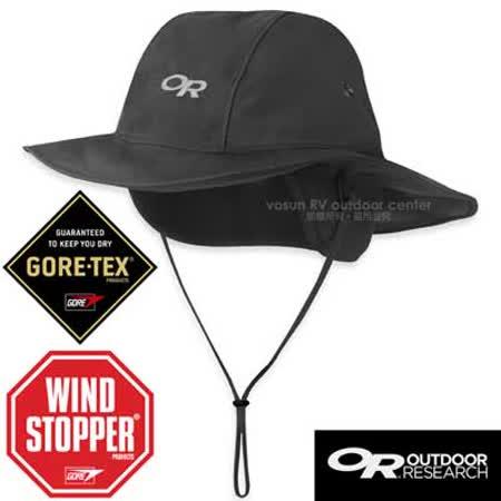 【Outdoor Research】Snoqualmie Sombrero GORE-TEX 防風防水透氣保暖大盤帽.牛仔帽.圓盤帽.遮陽帽/WINDSTOPPER遮耳罩/243510 黑