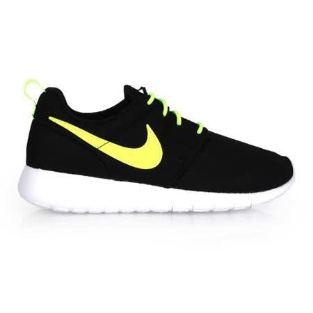 (童) NIKE ROSHE ONE -GS 女大運動鞋-慢跑 黑螢光黃