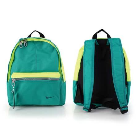 (童) NIKE 男女兒經典後背包-雙肩包 螢光黃綠 F