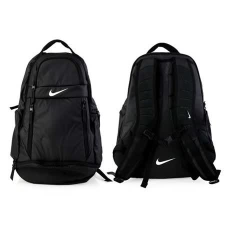 NIKE 菁英後背包-雙肩包 17吋筆電 黑白 F