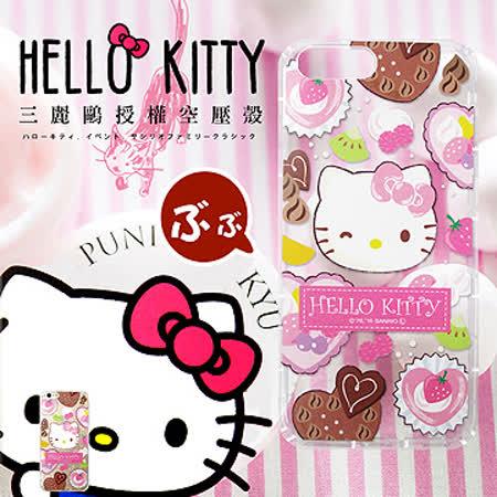 三麗鷗授權正版 Hello Kitty貓  iPhone 7 PLUS 5.5吋 透明空壓防震殼(甜食)