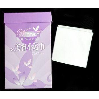 水針不織布 美容拋棄式小方巾 嬰兒乾濕兩用濕紙巾 120張 (079677)