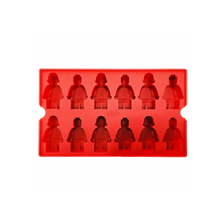 OXFORD 樂高造型DIY模具-紅(12小格)