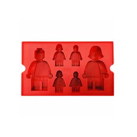 OXFORD 樂高造型DIY模具-紅(6格)