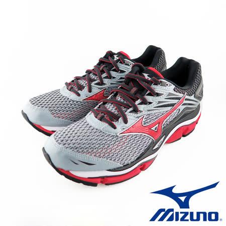 Mizuno WAVE ENIGMA 6 男慢跑鞋 J1GC160262  (灰/ 紅)