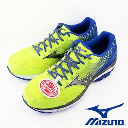 Mizuno WAVE RIDER 19 2016 秋冬新款 男慢跑鞋 SUPER WIDE (黃/藍) - J1GC160490