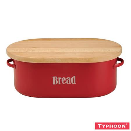 【TYPHOON】復古系列-麵包盒附切麵包砧板(紅)