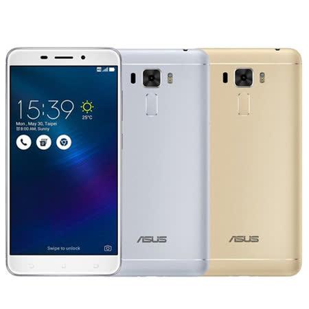 ASUS Ze宜蘭 百貨 公司nFone 3 Laser ZC551KL 4G/32G 5.5吋雷射自動對焦(金/銀色) -送強化玻璃保護貼+側掀式皮套+線控自拍棒