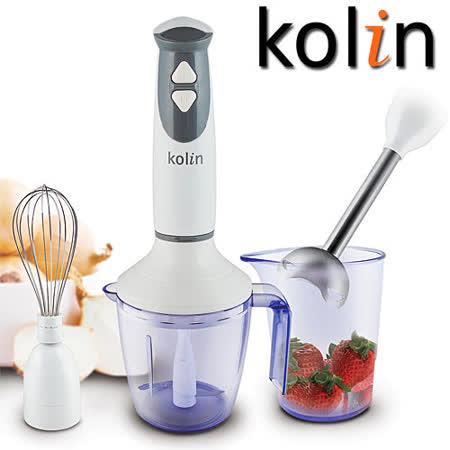 【團購4入】歌林Kolin-4件式電動食物料理棒(KJE- MN205)