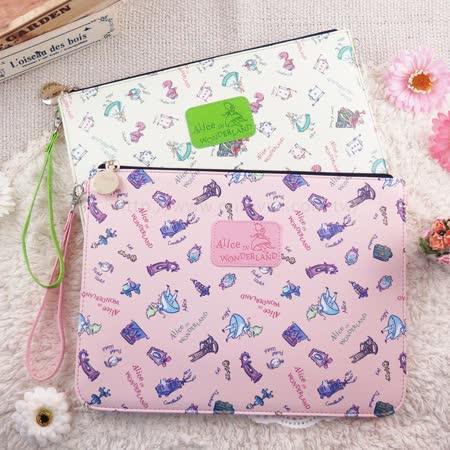 Disney迪士尼愛麗絲夢遊仙境10吋通用平板皮套/保護包/萬用包/手拿包