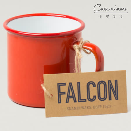 Falcon 獵鷹琺瑯 琺瑯馬克杯 350ml 紅白