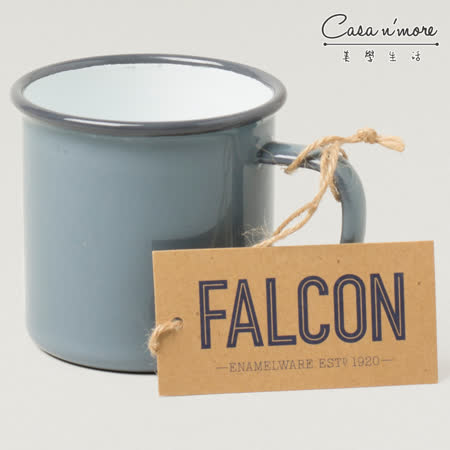 Falcon 獵鷹琺瑯 琺瑯馬克杯 350ml 灰白