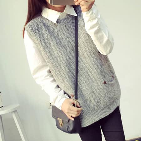 【韓國KW】學院風馬甲背心針織毛衣