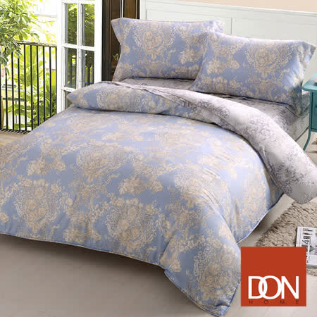 《DON 卡蔓風情》雙人四件式天絲兩用被床包組
