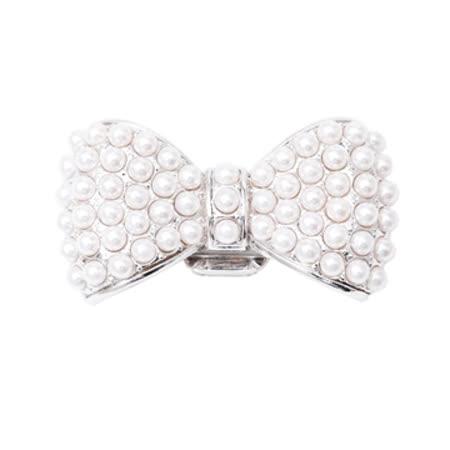 美國POPITS珍珠蝴蝶結扣飾