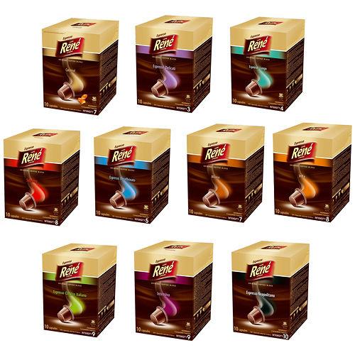 RENE 芮妮濃縮咖啡膠囊^(10入裝^) ^(濃縮咖啡 濃縮米蘭諾低咖啡因^)