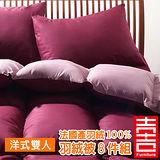 吉加吉 法國產100% 羽絨被 8件寢具組 JB-0714 【洋式】 (雙人床)