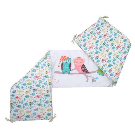 「英國smarTrike-Tots」貓頭鷹家族立體刺繡雙面床圍