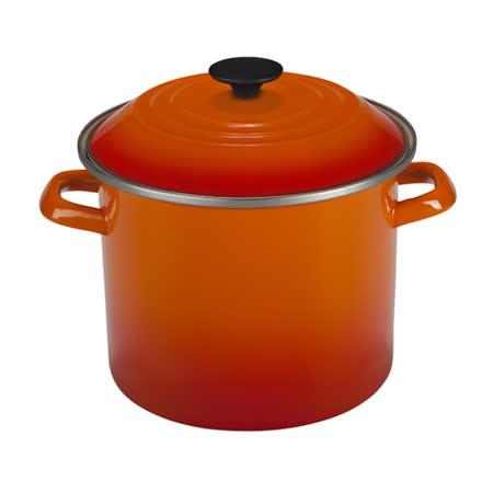 LE CREUSET 琺瑯不銹鋼湯鍋 22cm (火焰橘)