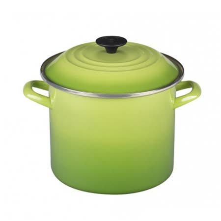 LE CREUSET 琺瑯不銹鋼湯鍋 22cm (棕櫚綠)