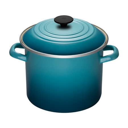 LE CREUSET 琺瑯不銹鋼湯鍋 22cm (加勒比海藍)