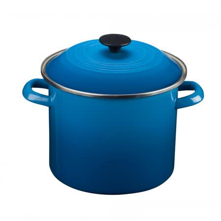 LE CREUSET 琺瑯不銹鋼湯鍋 22cm (馬賽藍)