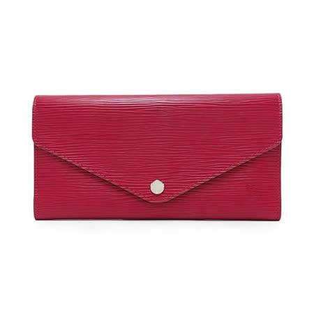Louis Vuitton LV M60847 JOSEPHINE EPI 水波紋皮革活動零錢長夾.紫紅_預購